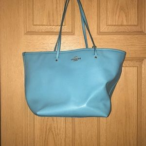 Coach turquoise tote